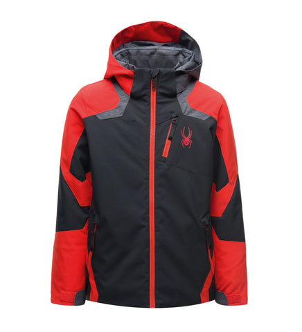 Spyder Leader Boys Ski Jacket in Black