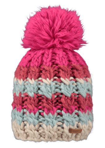 Barts Feather Beanie in Dark Magenta