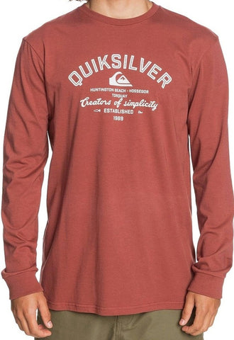 Quiksilver Men's Creators of Simplicity Long Sleeve T-shirt in Kalamata styel: EQYZT06068-CQN0