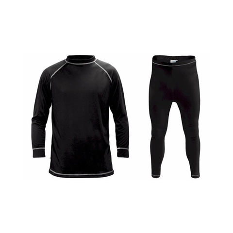 Supatherm Mens Top & Bottom Thermal Set Black
