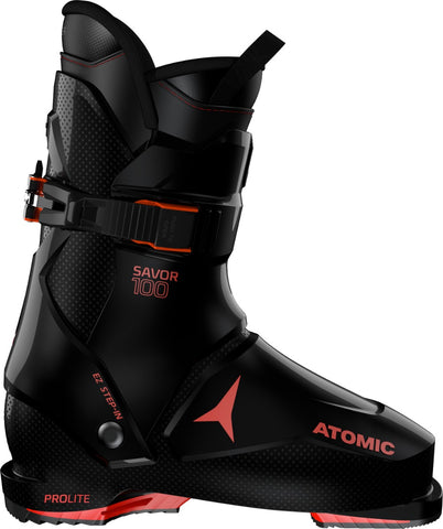 Atomic Savor 100 ski boot in red and black