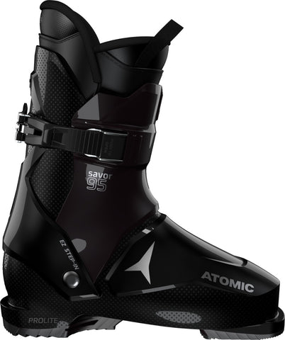 Atomic Savor 95 W ski boot in black and deep purple