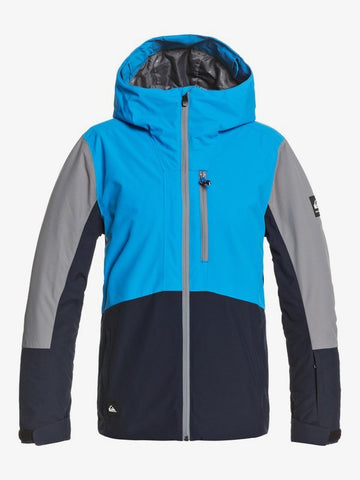 Quiksilver Boys Ambition Snow Jacket in Brilliant Blue