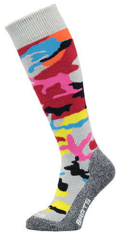 Barts Camo Kids Ski Socks in Red