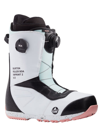 Burton Ruler Boa Snowboard Boot in white/black/multi