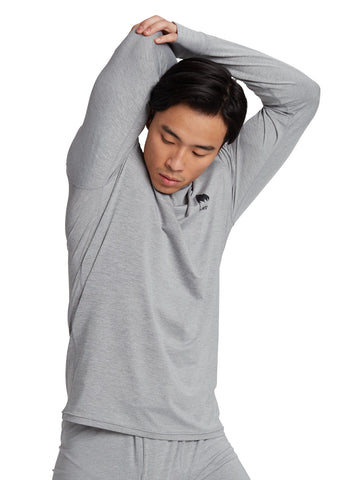 Burton Men's Lightweight X Base Layer in Gray Heather