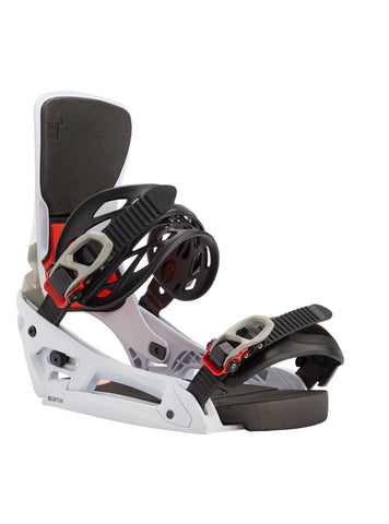 Burton Cartel X EST Snowboard Binding in White/Black/Multi