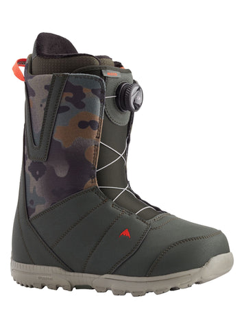 Burton Moto Boa Snowboard Boot in Dark Green/Camo