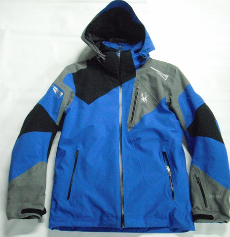 Spyder Leader GorTex Mens Ski Jacket in Blue & Grey