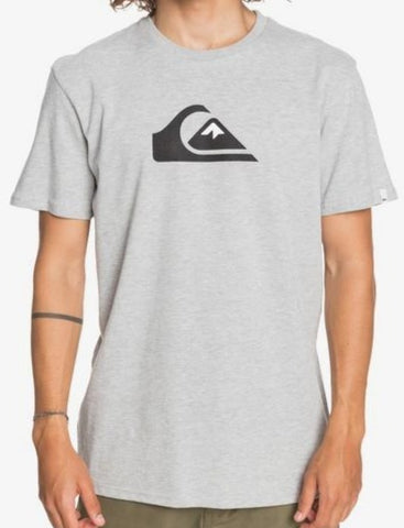Quiksilver Men's Comp Logo T shirt in Athletic Heather