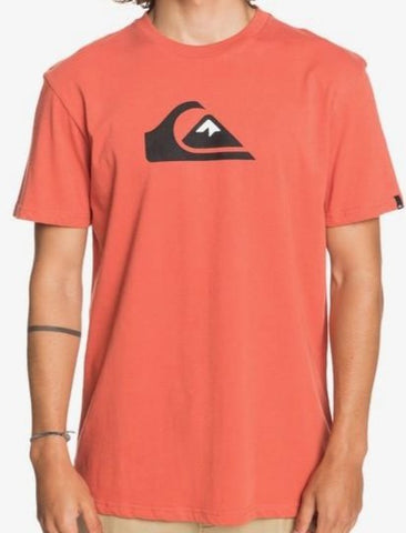 Quiksilver Men's Comp Logo T shirt in Chili