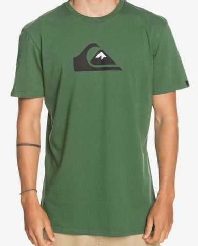 Quiksilver Men's Comp Logo T shirt in Greener Pastures