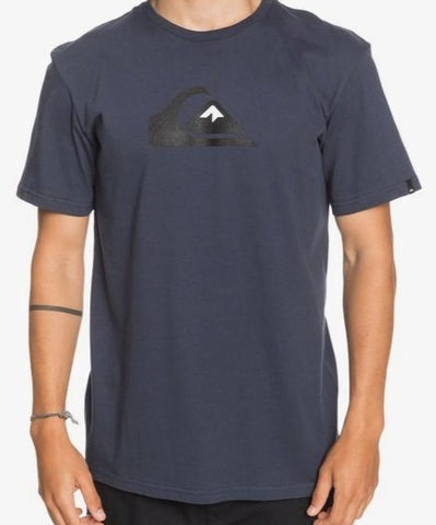 Quiksilver Men's Comp Logo T shirt in Parisian Night