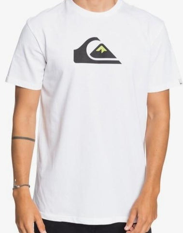 Quiksilver Men's Comp Logo T shirt in White