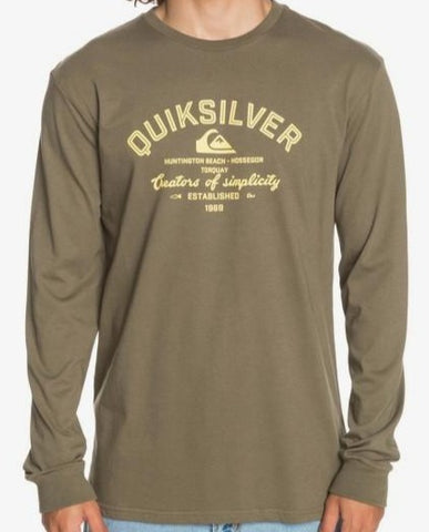 Quiksilver Men's Creators of Simplicity Long Sleeve T shirt in Kalamata