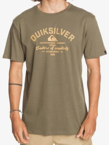 Quiksilver Men's Creators of Simplicity T shirt in Kalamata