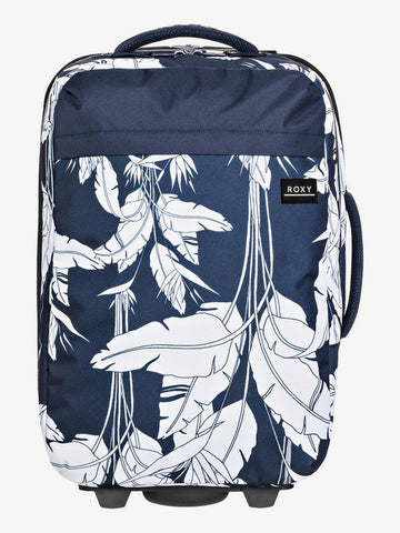 Roxy Feel The Sky 35L Wheeled Cabin Suitcase in Mood Indigo Flying Flowers
