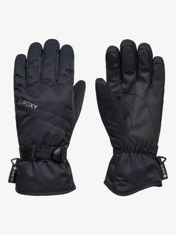 Roxy Women's GORE-TEX Fizz Snowboard Ski Gloves in Black