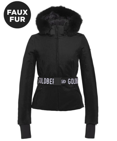 Goldbergh HIDA Womens Ski Jacket Faux Fur in Black