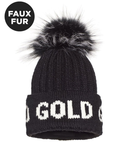 Goldbergh HODD Beanie Faux Fur in Black
