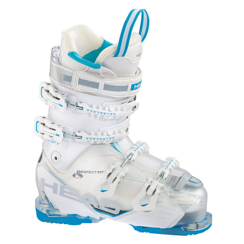 Head Adapt Edge 95 W Women's Ski Boot in White & Blue