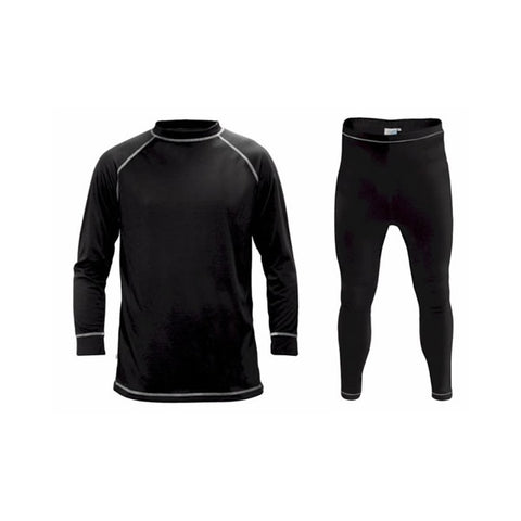 Supatherm Kids Top & Bottom Thermal Set Black