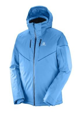 Salomon Stormrace Mens Ski Jacket in Hawaiian Surf