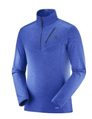 Salomon Discovery Mens Midlayer in Blue Surf the Web Heather
