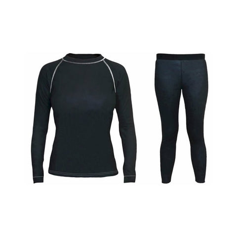 Supatherm Ladies Top & Bottom Thermal Set Black