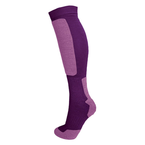 Snow Tec Adult Ski or Snowboard Socks in Fig and Lilac