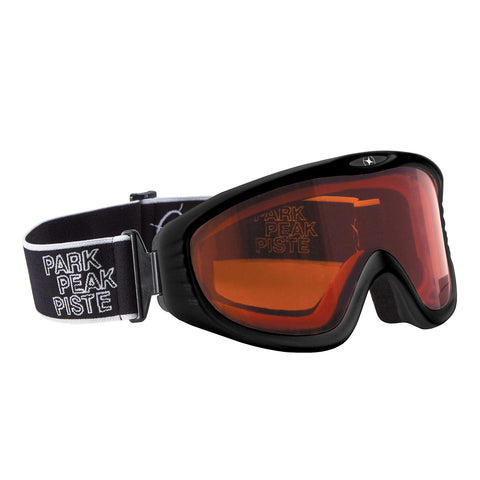 Vulcan Snow Goggle Black Frame with Orange Lens