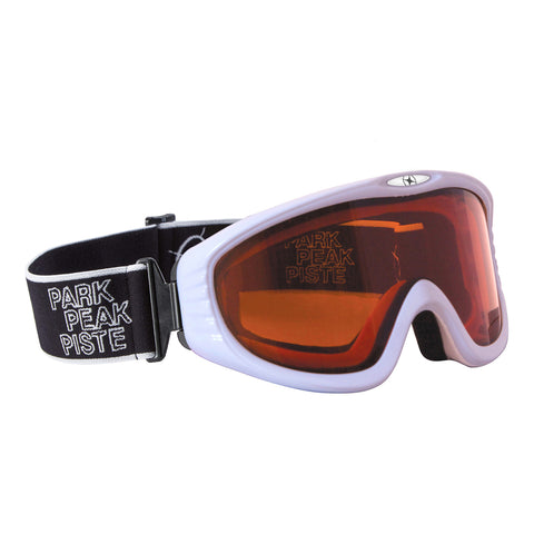 Vulcan Snow Snowboard Goggle White Frame with Orange Lens