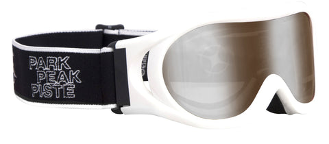 Whizz Ski or Snowboard Goggle in White gloss/Silver