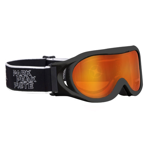 Whizz Ski or Snowboard Goggle in Black gloss/red