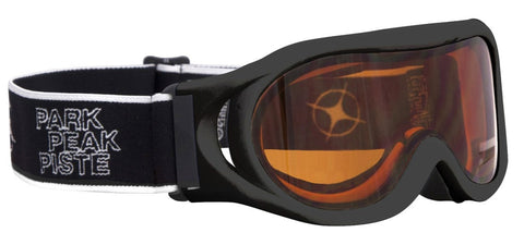 Whizz Ski or Snowboard Goggle - Black Frame with Orange Lens