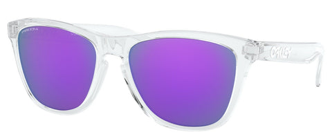 Oakley Frogskins in Polished Clear with Prizm Violet