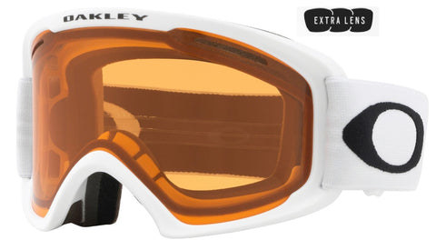 Oakley O Frame 2.0 Pro XL in Matte White with Persimmon and Dark Grey Lenses oo7112-04