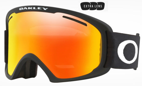 Oakley O Frame 2.0 Pro XL in Matte Black with Fire Iridium and Persimmon Lenses