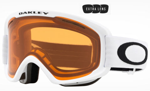 Oakley O Frame 2.0 Pro XM in Matte White with Persimmon and Dark Grey Lenses