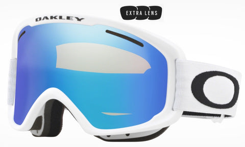 Oakley O Frame 2.0 Pro XM in Matte White with Violet Iridium and Persimmon Lenses