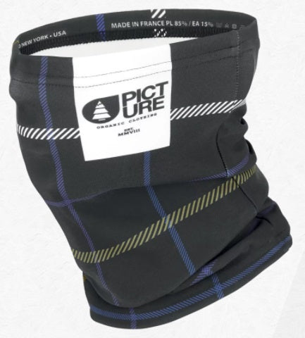 Picture Organic Clothing Neck Warmer in Black Tartan