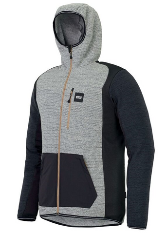 Picture Organic Okahido Mens Zip Hoody in Grey