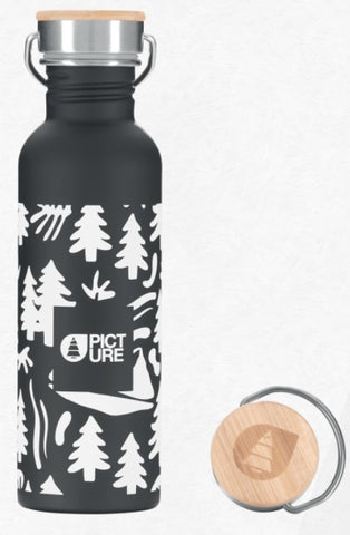 Picture Organic Clothing Hampton Water Bottle in Black
