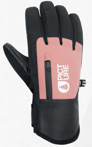 Picture Organic Clothing Women's Kakisa Snow Gloves in Misty Pink