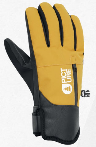 Picture Organic Clothing Men's Madson Snow Gloves in Safran