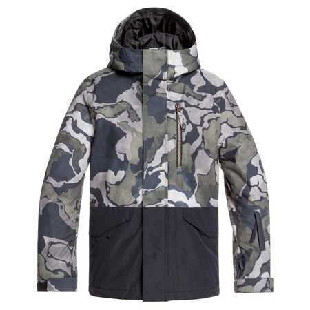 Quiksilver Mission Block Boys Jacket in Black Sir Edwards