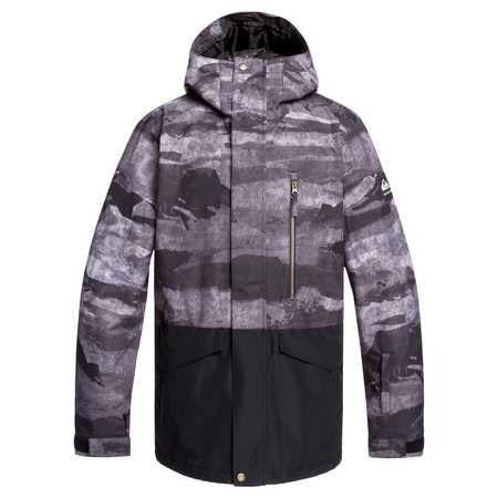 Quiksilver Mission Block Mens Jacket In Black Matte Painting