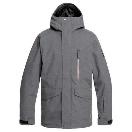 Quiksilver Mission Mens Jacket in Black Heather