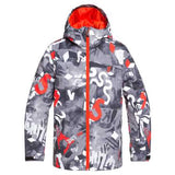 Quiksilver Mission Printed Boys Jacket in Poinciana Ongrid