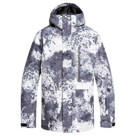 Quiksilver Mission Printed Mens Jacket In Castle Rock Splash